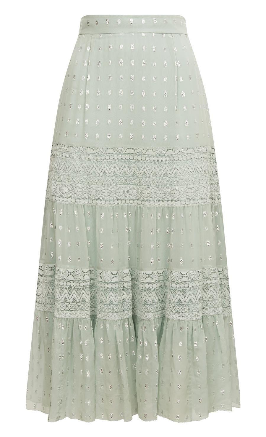 Wondering Lace Skirt, Pale Lichen Mix