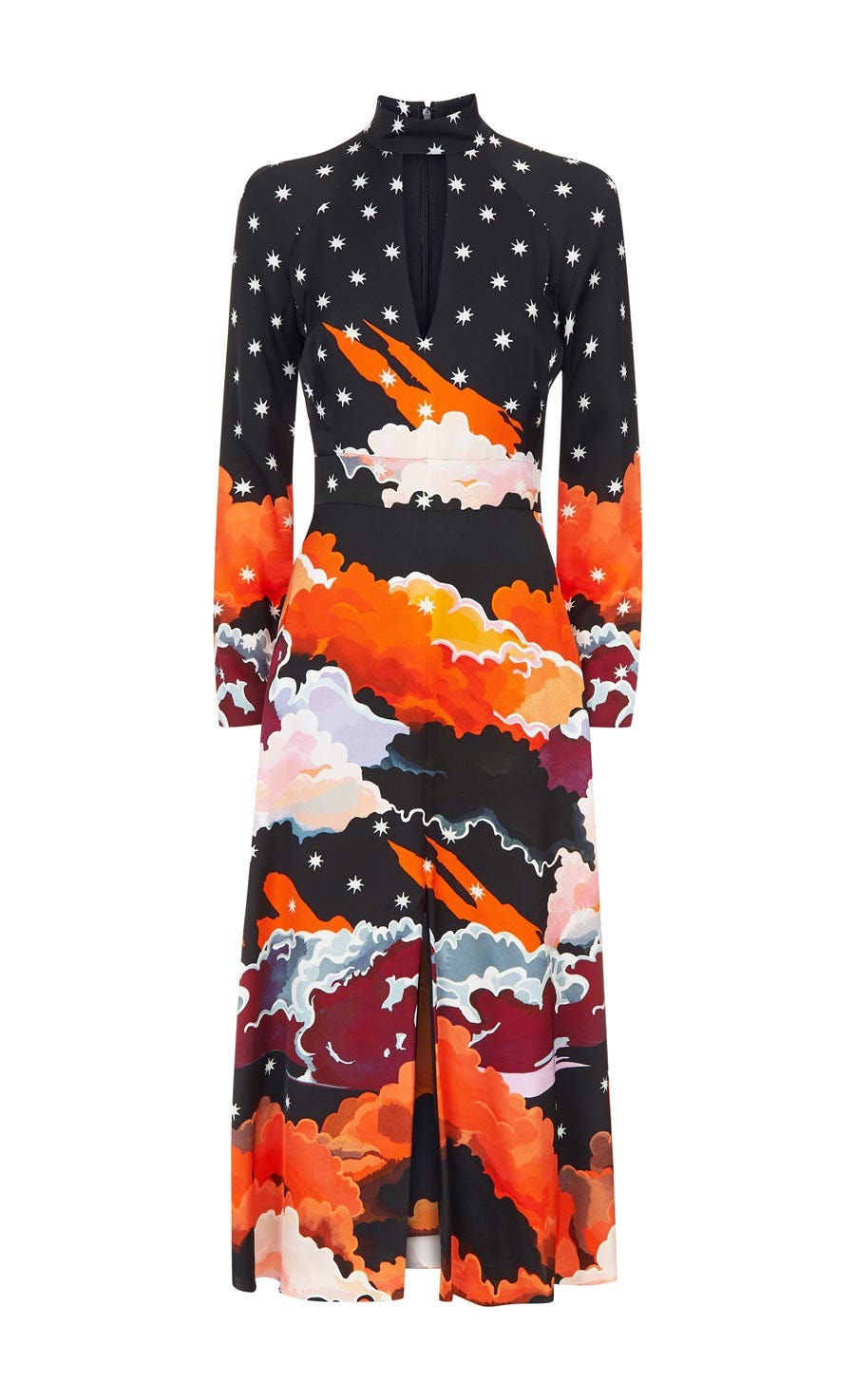 Cloud Evening Midi Dress