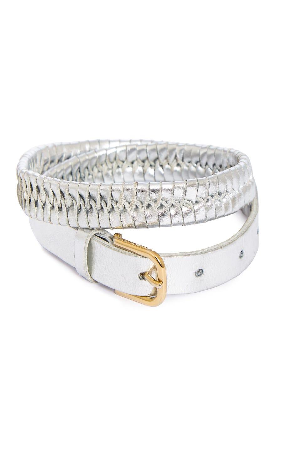 Penelope Metallic Braided Belt