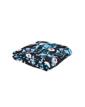 Euphoria Print Satin Embroidered Throw