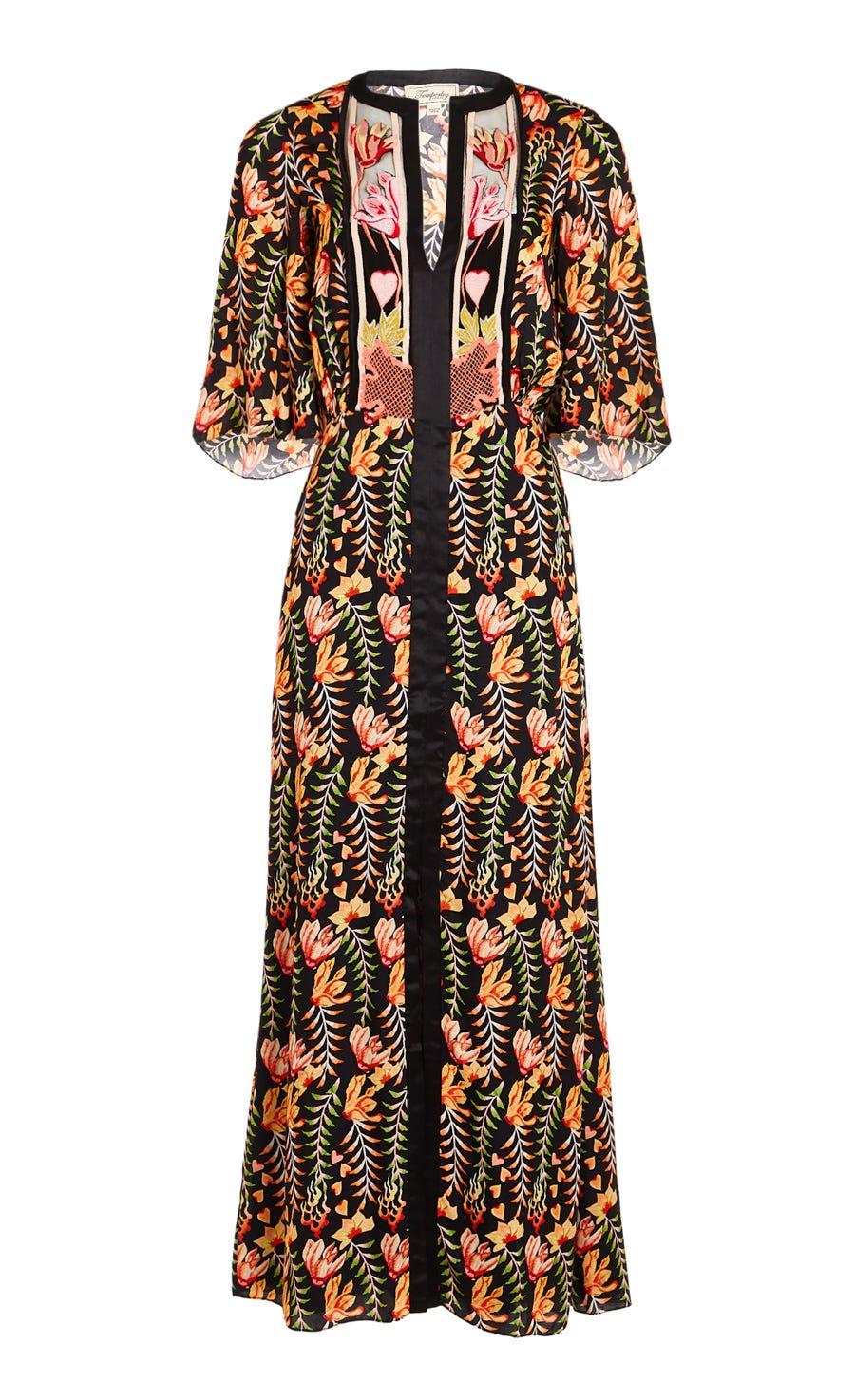 Rosy Sleeved Dress