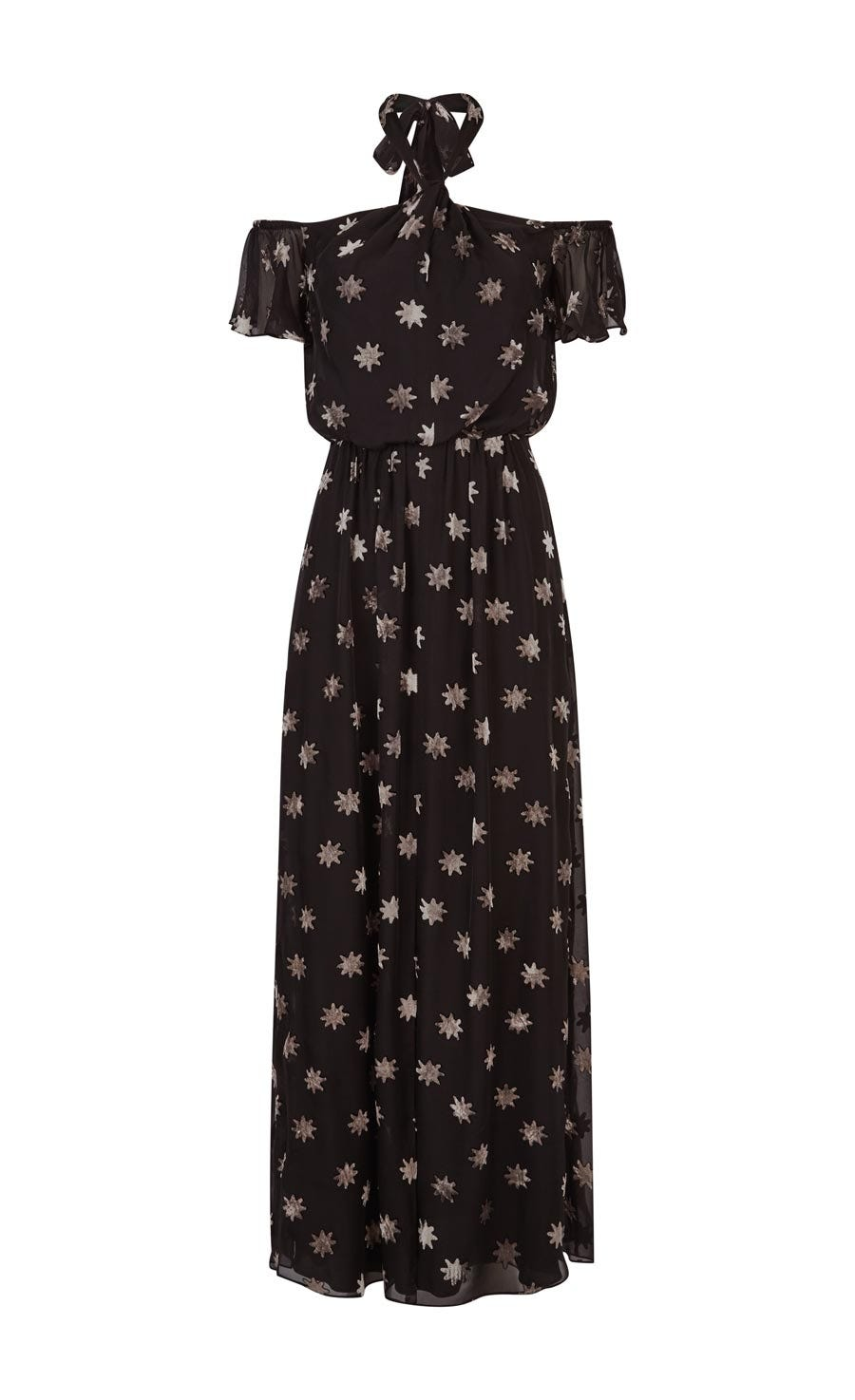 Velvet Star Twist Dress