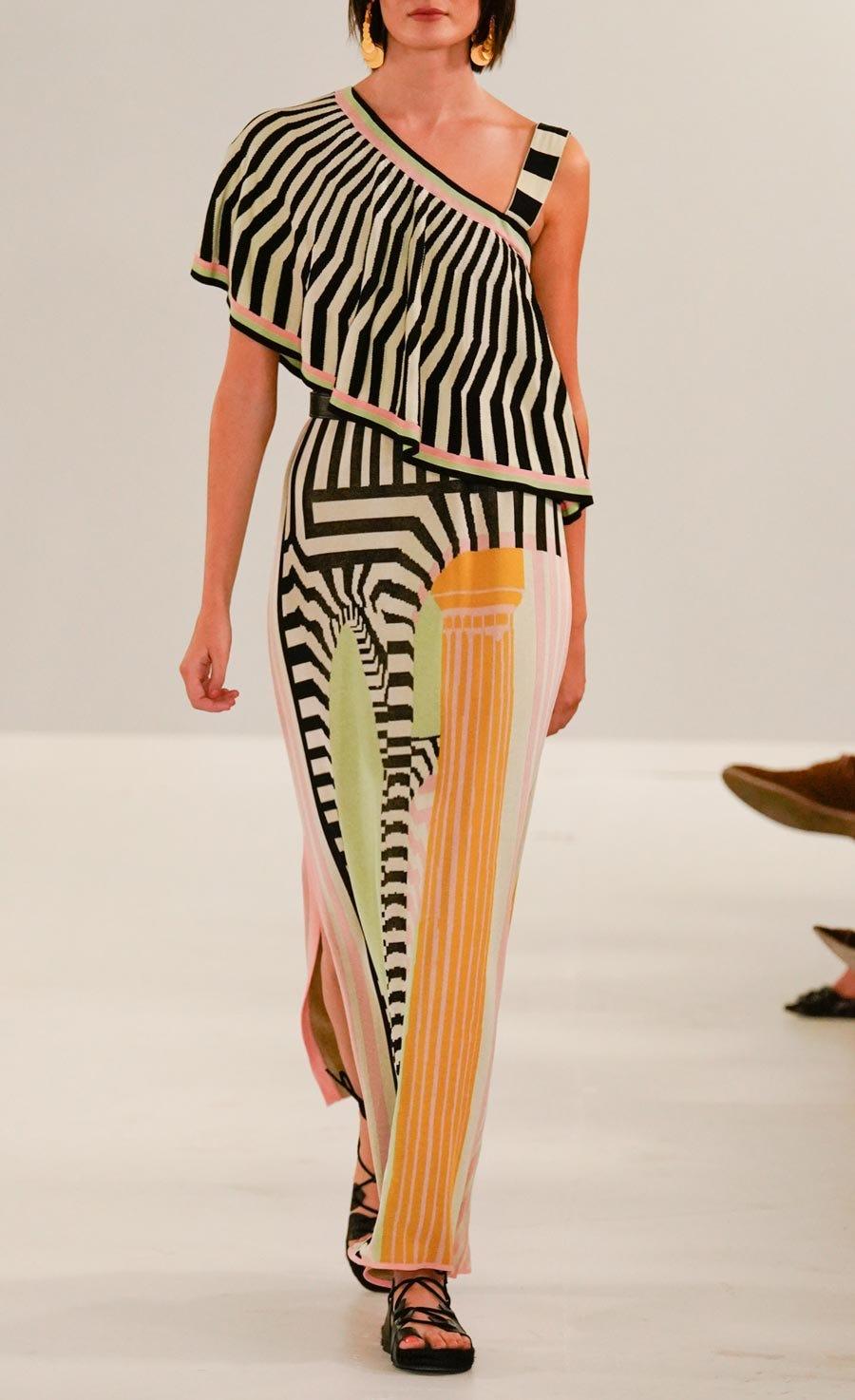 Maia Knit Ruffle Dress