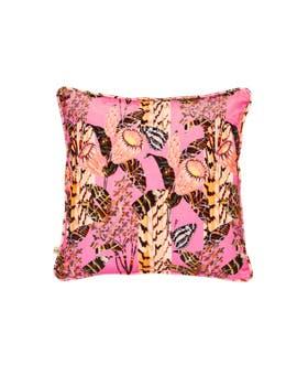 Harmony Print Velvet Cushion