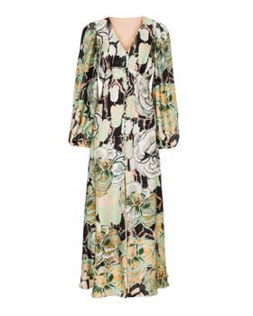 Missy Print Button Dress