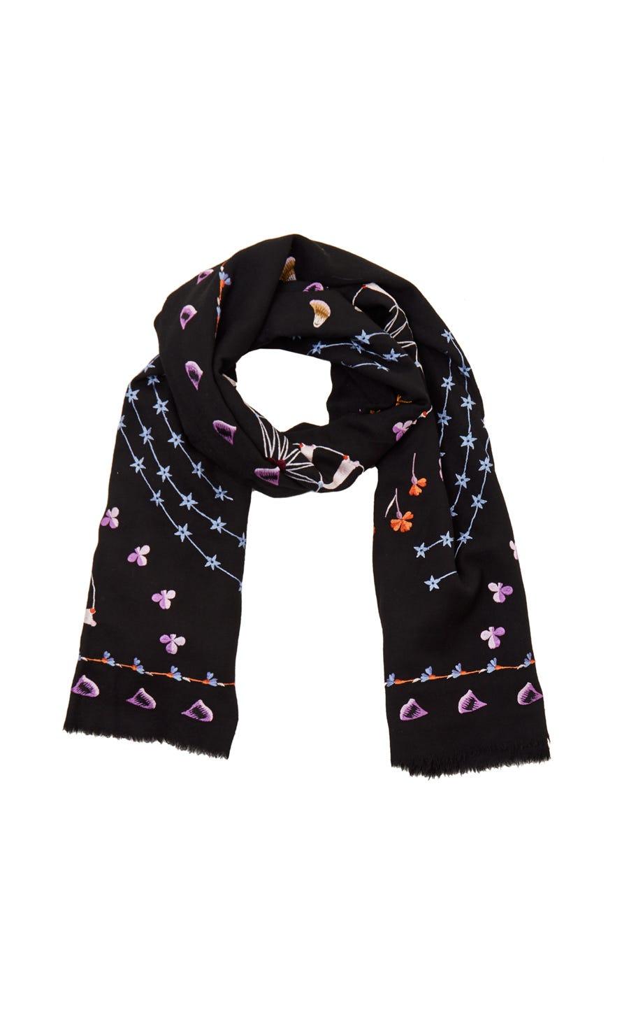Effie Embroidered Shawl