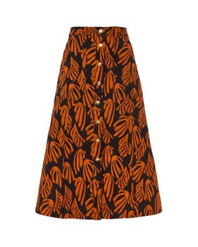 Fontana Printed Denim Skirt