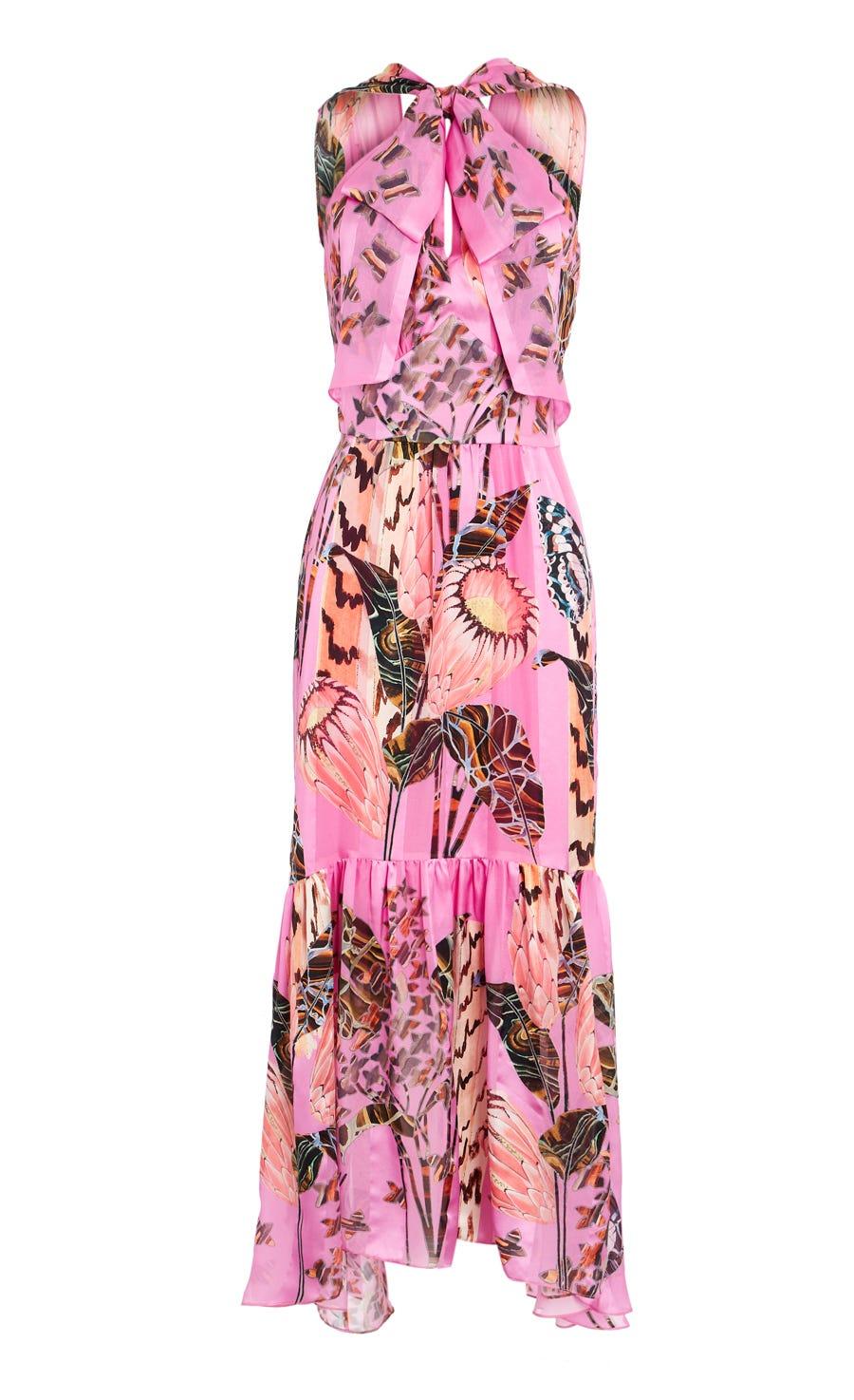 Harmony Print Tie Dress