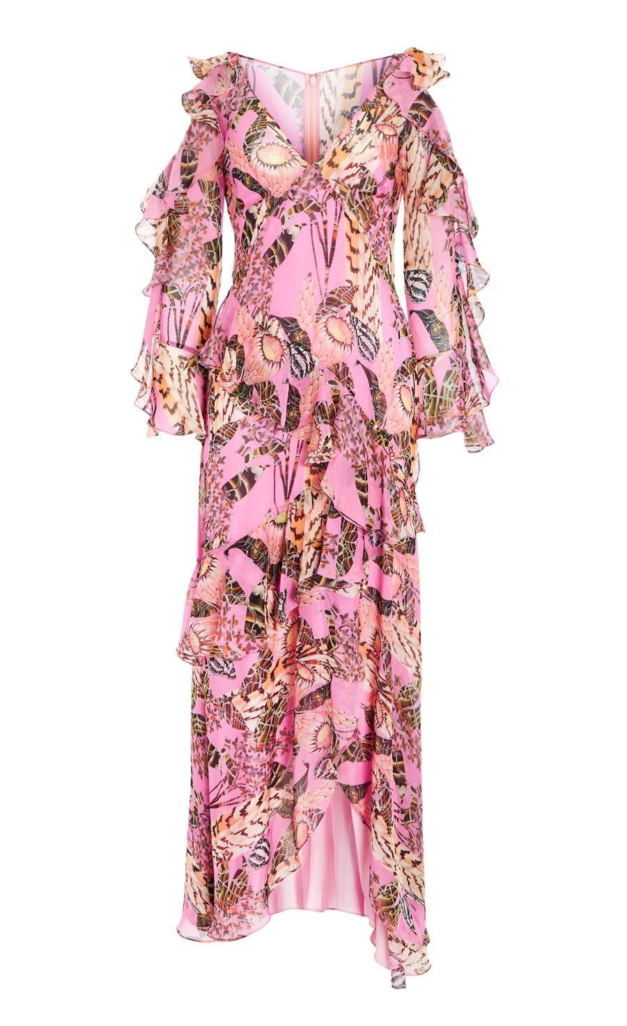 Harmony Print Ruffle Dress