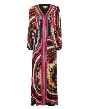 Leonie Print V-neck Dress