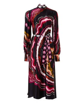Leonie Print Sleeved Dress