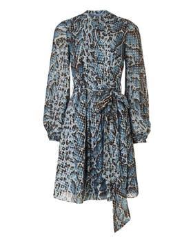 Ocelot Print Mini Dress