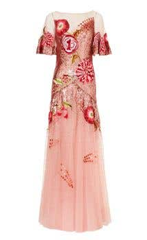 Carnation Sequin Gown