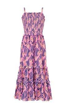 Reef Print Strappy Dress