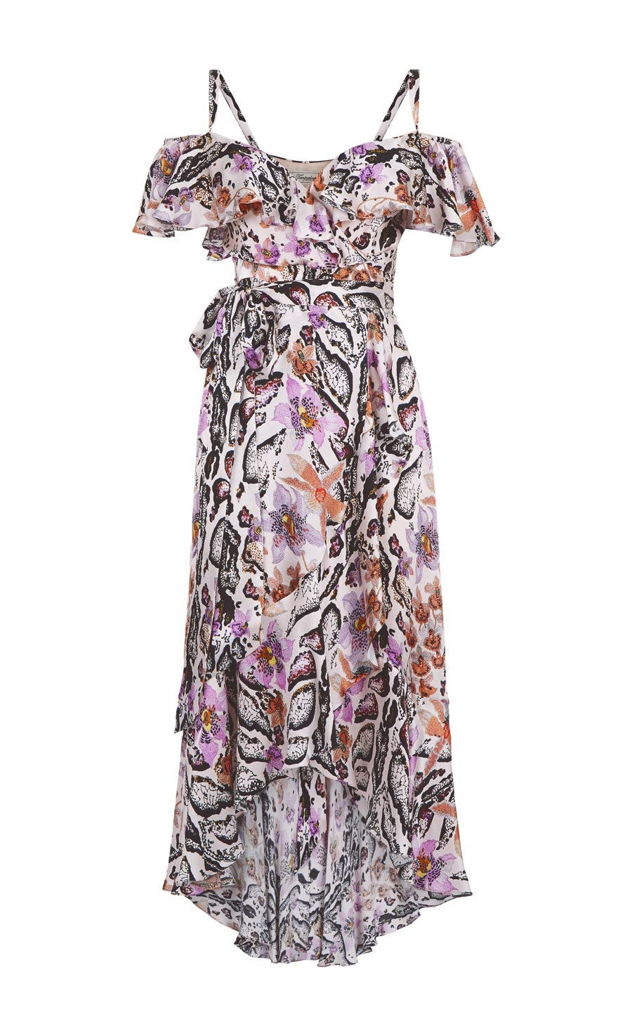Safari Printed Wrap Dress