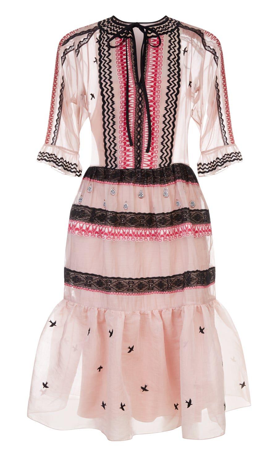 Poppy Field Tie Dress, Rose Mix