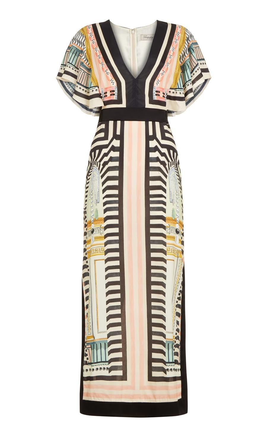 Obelisk V-neck Dress