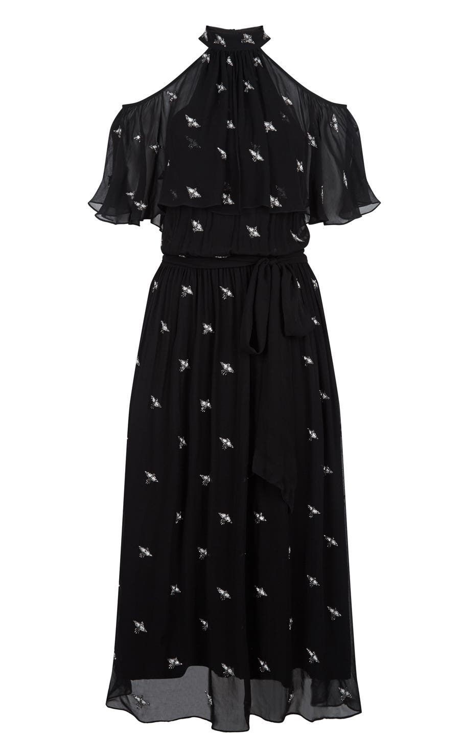 Starling Midi Dress, Black